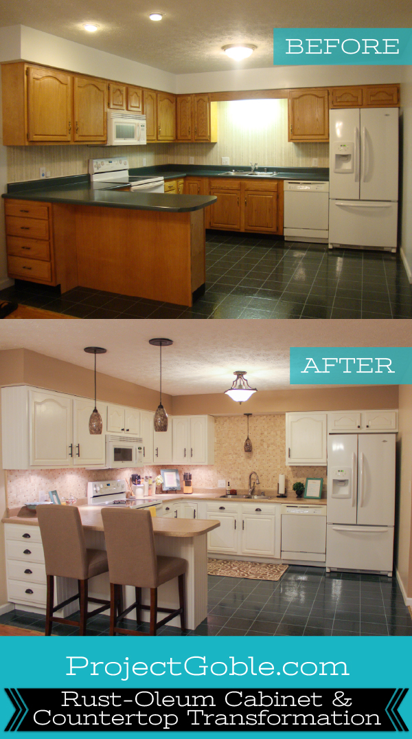Rustoleum Countertop Paint White : Kitchen: Rust-Oleum Cabinet & Countertop Transformation