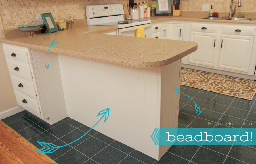 Adding Beadboard to your Kitchen Bar Area - www.ProjectGoble.com