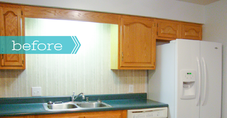BEFORE - DIY: Adding BEADBOARD to upgrade the sides of your kitchen cabinets - www.ProjectGoble.com