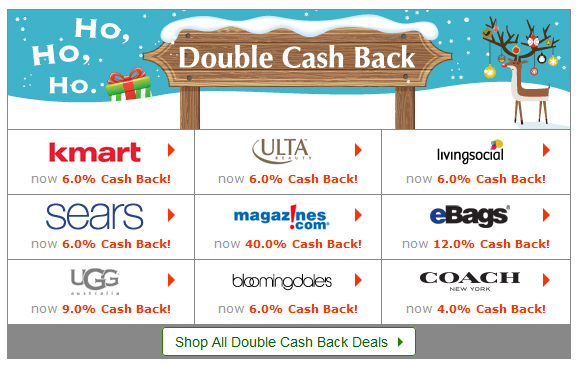 Ebates Holiday Store Percentages