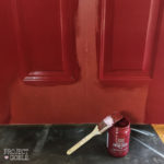 Painting our Front Door Passionate Red