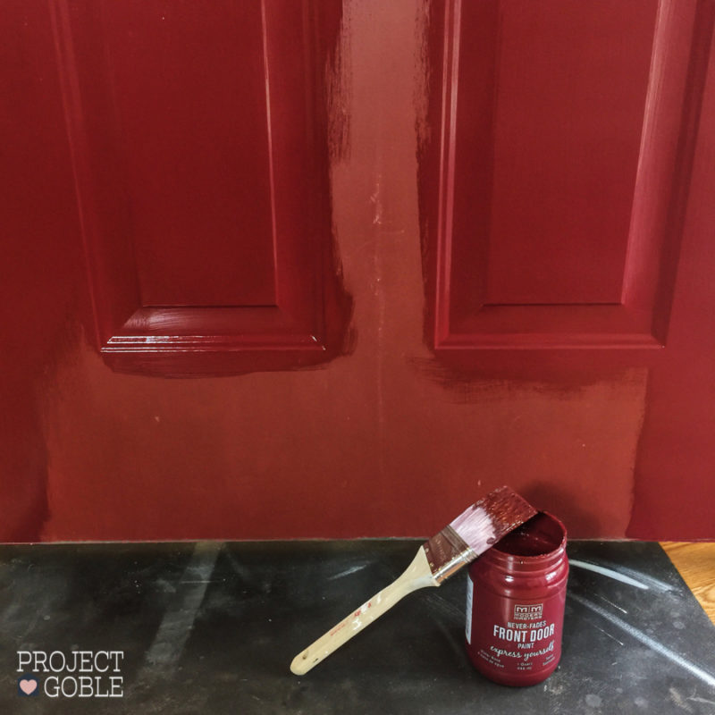 Front Door Paint - DIY Makeover with Modern Masters Passionate Front Door Paint - www.ProjectGoble.com