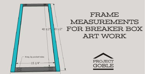 Frame Measurements for Breaker Box Wall Art Project - www.ProjectGoble.com