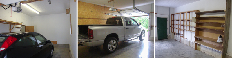 Two Car Garage - Before Renovation and Upgrade - ProjectGoble.com
