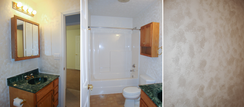 BEFORE: Guest Bathroom White & Hunter Green