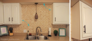 DIY: Adding BEADBOARD to upgrade the sides of your kitchen cabinets - www.ProjectGoble.com