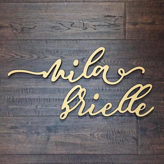 Another cute cursive wooden name sign ready to ship! Thishellip