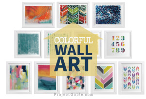 Colorful Wall Art for the Living Room - ProjectGoble.com