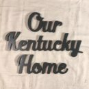 Our Kentucky Home Wooden Cutout Sign. Available in any state and great for a gallery wall!