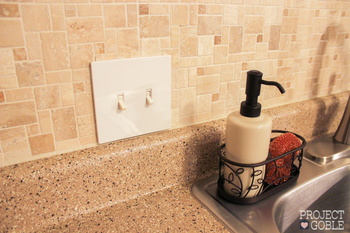 How To Install A Peel Amp Stick Mosaic Tile Kitchen Backsplash Project Goble