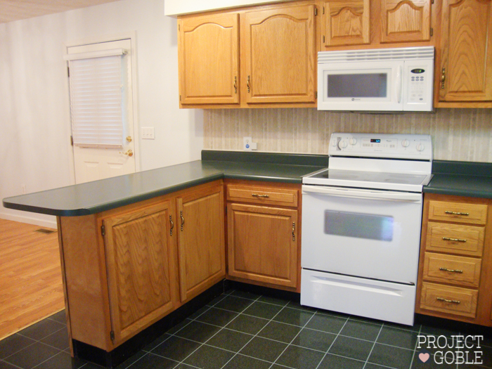 Kitchen Transformation White Cabinets Painted Counters With