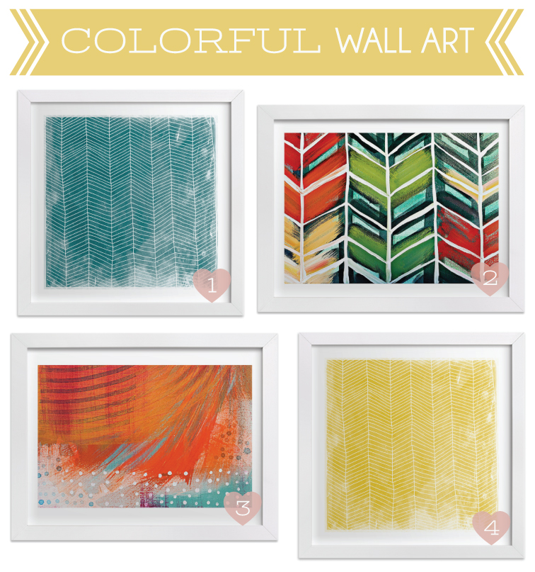 Colorful Wall Art For The Living Room   Click For Sources
