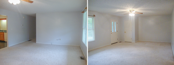 BEFORE: Empty Living Room