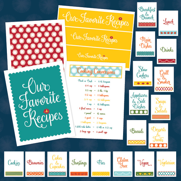 Organize your Recipes with this Recipe Binder Kit Printable DIY Project from www.ProjectGoble.com