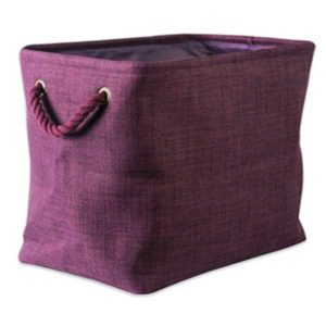 eggplant collapsible polyester laundry basket