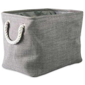 gray collapsible polyester laundry basket