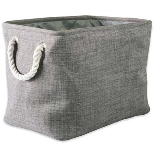 dii-collapsible-polyester-laundry-basket-gray