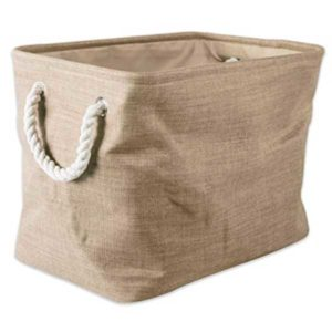 taupe collapsible polyester laundry basket
