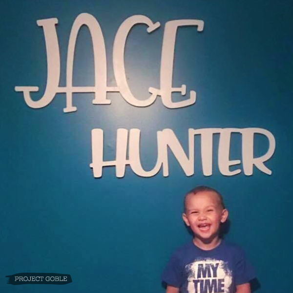 Light Gray Unique Wooden Name Sign for Boy's Room