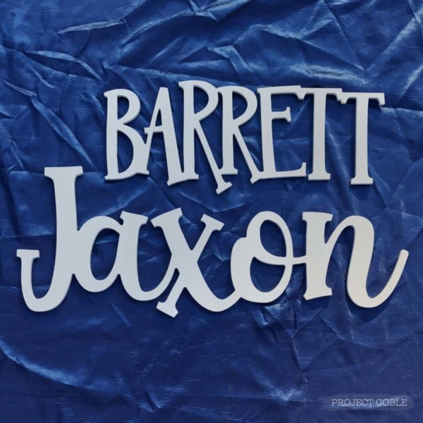 Wooden Name Cutout Sign for Boys Bedroom