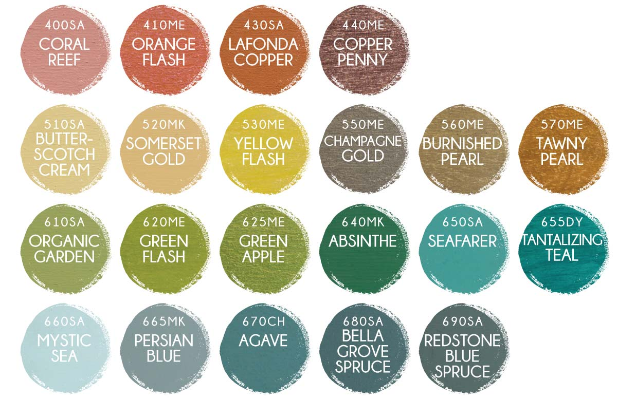 Wooden Sign Paint Colors in Orange, Yellow, and Green